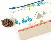 NYC or Bust! Road Trip Pencil Case For Boys or Girls Cute Padded Zipper Pouch