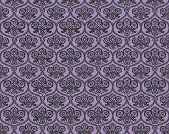 Happy Haunting by Deena Rutter for Riley Blake Designs, Damask Purple, SKU C4671, 1 yd