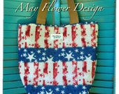 Red White and Blue American Tote Bag / 4th of July Tribute Handmade Bag