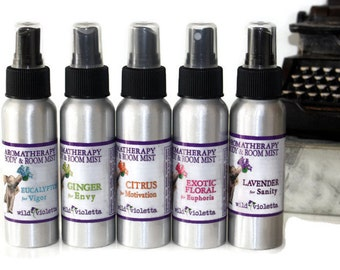 SALE Room Spray Ginger Basil Great for the Kitchen // All Natural Air Freshener with Essential Oils