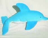 Baby Dolphin, Organic Stuffed Animal, Soft Toy, GOTS Organic Cotton, Alpaca Stuffing