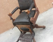 Rare 1880's Archer Barber Chair (PRICE REDUCED)