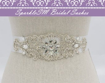 Rhinestone Belt, Crystal Bridal Sash, Beaded Belts, Bridal Sash, Wedding Sash, Bridesmaids Sashes, Bridal Sash Belts, Wedding Dress Sash