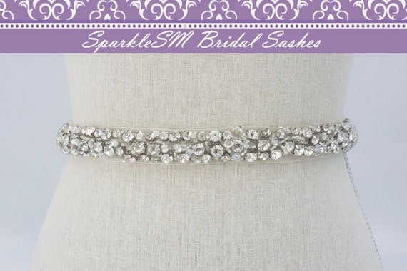 Bridal Sash, Wedding Sash, Bridal Belt, Crystal Sash, Rhinestone Sash, Jeweled Belt, Bridal Belt, Wedding Gown Belt, Bridal Sash - Felicity