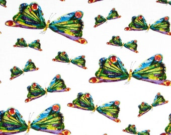 The Very Hungry Caterpillar Butterflies From Andover Fabrics by Eric Carle