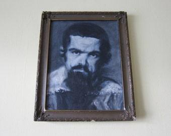 Vintage Oil Painting Portrait of Gentleman