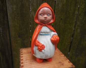 Antique Red Riding Hood Irwin Baby Rattle