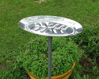 Metal Bird Feeder - Oval Tray feeder - platform bird feeder