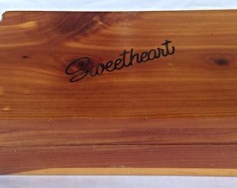 J B Deere Box Cedarcraft Sweetheart Vintage Cedar