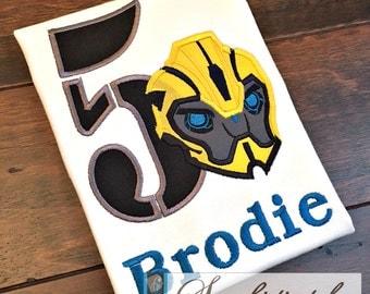 Bumblebee Transformers Birthday Shirt - You Customize