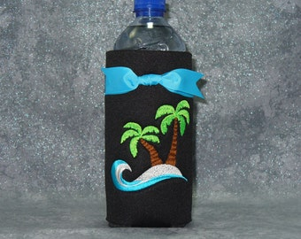Bottle, Beverage Holder, Palm Trees, Water Bottle Cozy