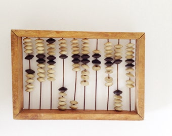 Wooden ABACUS  use for home decor, store display, shelf display.