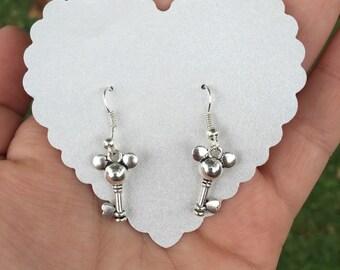 Mickey key charm earrings