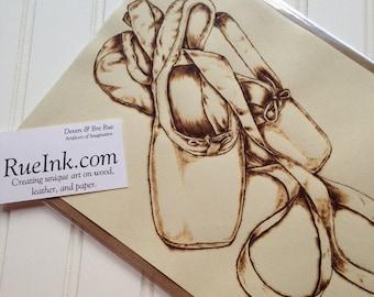 Ballet Dancer Pointe & Shoes Pyrography Fine Art Set