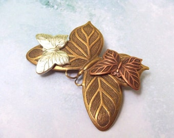 SALE 3 Butterfly Pin, Butterfly Brooch, Insect Pin, sweater pin, butterfly shawl pin, woodland, butterflies, scarf pin, silver, copper, gold