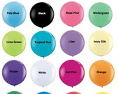 """36 inch Balloons """"Pick your Color"""" One (1) Large 36 inch Round Balloon Photo Props Weddings Birthdays Gender Reveal Made in the USA"""
