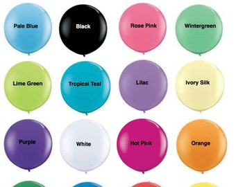 "36 inch Balloons Giant Round 36"" Inch Balloons Latex Balloons Photo Props Weddings Birthdays 3 Foot Balloons Round Latex Balloons"