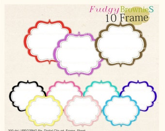 ON SALE Digital frame, circle frames clipart, white background frame, digital scrapbooking frames.A-25 ,  Instant download