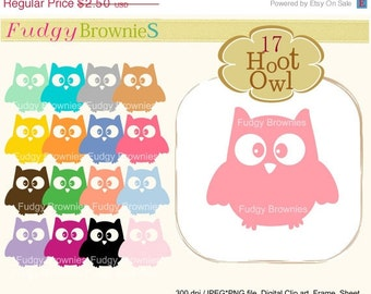 ON SALE Special Offer- owls clip art,hoot owls,cute color silhouette owls clip art,invites, cards, scrapbooking ,INSTANT Download