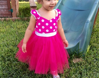 Girls 1st birthday dress, 2nd birthday dress, 3rd birthday dress, 4th birthday dress, 5th birthday dress, 6th birthday dress - Minnie Mouse