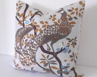 Decorative pillow cover, DwellStudio, Vintage plumes birch floral
