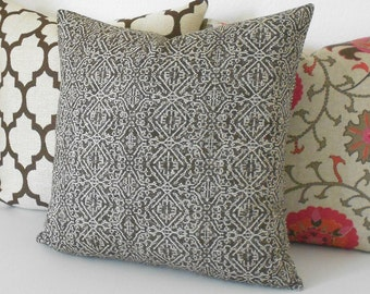 Both sides, Brown ikat decorative pillow cover