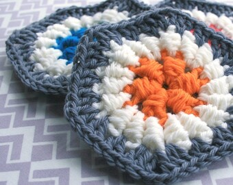 Crochet Pattern - Slanting Cluster Hexagon - PDF