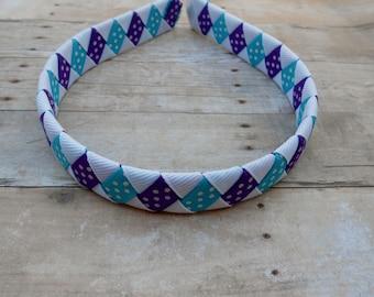 Purple and Turquoise woven headband