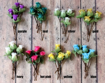 ON SALE. Flower Rosebuds Hair Pins. Flower Hair Pins. Whimsical. Bridesmaids. Rustic Wedding. Woodland. Hair Accessories. Fall, Autumn