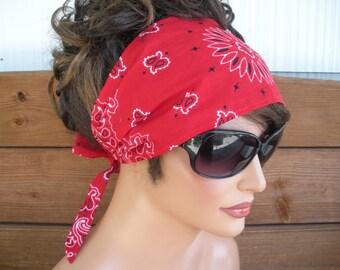 Womens Headband Headscarf Headband Summer Fashion Accessories Women Headwrap Headscarf Turban Yoga Headband in Red bandana