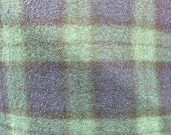 Plaid Print Polar Fleece Fabric by the yard