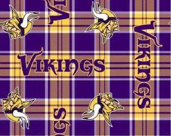 Minnesota Vikings NFL Fleece Fabric by the yard
