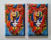 2 Grateful Dead Light Switch Covers  - 50th Anniversary Set of 2