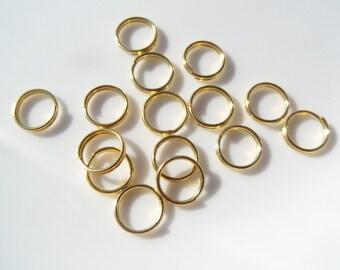5mm, 100CT, Double loop jump rings, split rings, Gold toned, jump rings, Alloy, Lead free & Nickel free, Cadmium free Z41