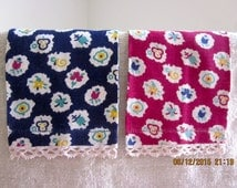 Provencal Design and Colors- Pair of Vintage Linen Towels