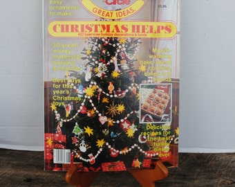 Vintage Family Circle Magazine Great Ideas Christmas Helps 1982 Volume 8