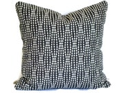 Waverly Strands, Decorative Pillow, Accent Pillow, Pillow Cover, 18x18 20x20 12x20 12x18, Lumbar Pillow, Pillow Sham, Charcoal & Cream