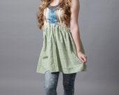Fairy, bathing dress, resort, vacation, corset, babydoll, sun bathing, pixie, elf~Turning Pages (corset)