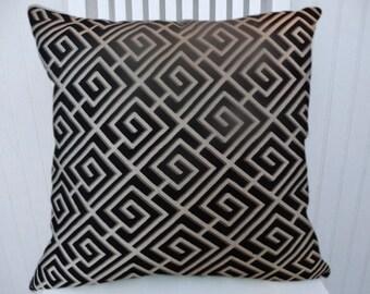 Black Geometric  Pillow Cover- Decorative Throw Pillow- Accent Pillow, Lumbar Pillow