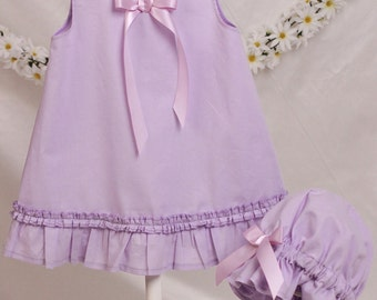 Lavender Baby Girl Slip And Baby Cap