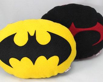 Batman and Robin Logo Pair of Cushions