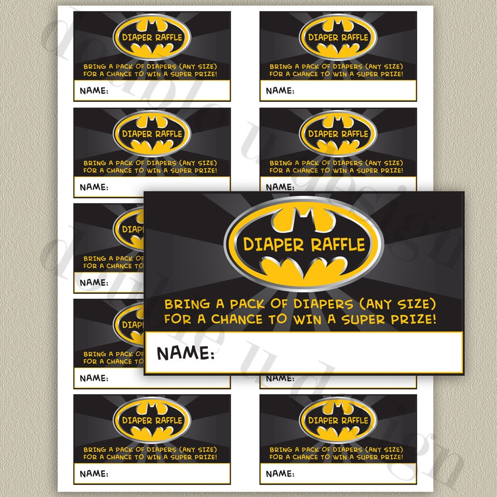 instant batman diaper raffle tickets baby shower 128270zoom
