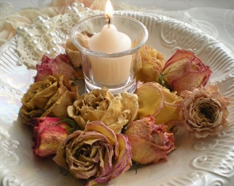 Romantic Air Dried Hybrid Tea Rose Heads Set Of 12 From SincerelyRaven On Etsy