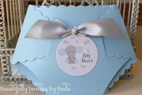 baby elephant baby shower invitation blue and gray baby, Baby shower invitations