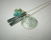 Love You to the Moon and Back Handstamped Silver Necklace