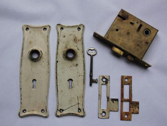 Vintage Door Hardware Set Door Plate Door Lock And Skeleton