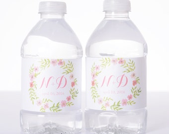 75 Wedding Water Bottle Labels - Waterproof water label - wedding decor - wedding favor - custom water label - Vintage Garden Wedding
