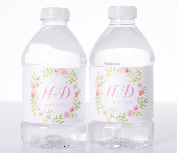 50 wedding water bottle labels waterproof water label wedding