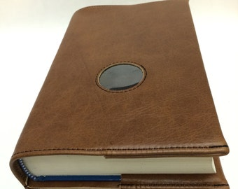 AA LARGE PRINT Big Book and 12 & 12 Leather Book Cover with Chip Hole