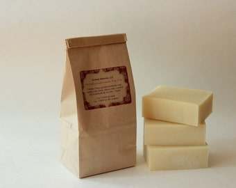 Patchouli lavender laundry soap choose 1 lb bag or 3 lb bag - all natural - contains essential oils. No synthetic dyes or fragrances. Vegan.